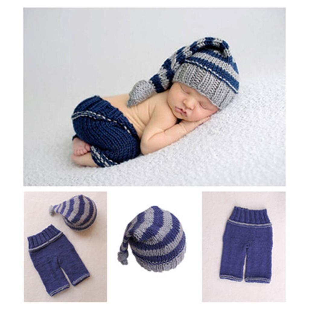 e03c6cd3c68 Newborn Baby Photography Props Soft Handmade Knit Cute Hat And Pants Set  For Baby Boy Girl 0 6 Months Accessories-in Hats   Caps from Mother   Kids  on ...
