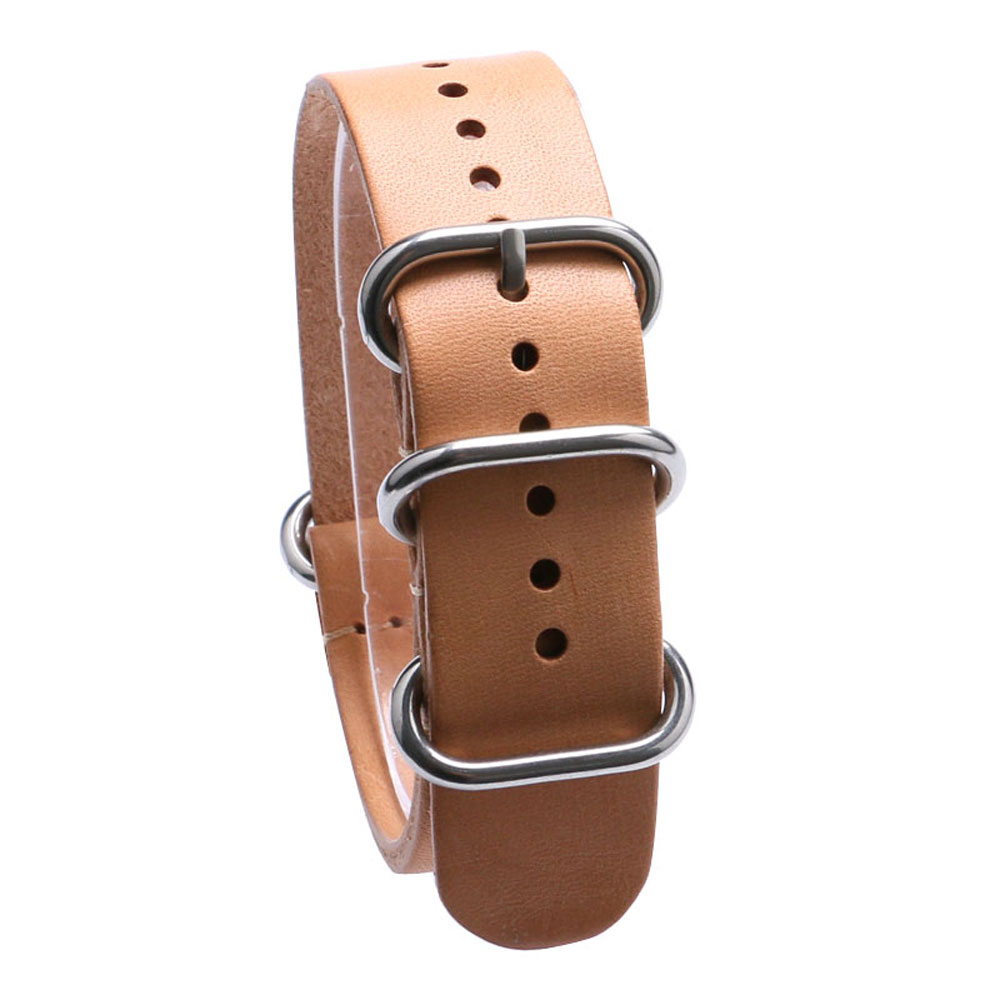 Khaki Light Brown Color 18/20/22 mm Genuine Leather Strap Band With Stainless Steel Pin Buckle For Sport Watches все цены