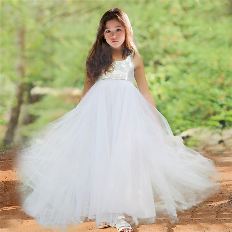 Kids Flower Girl Dress Princess Pageant Party Bridesmaid Wedding Tutu Dresses US