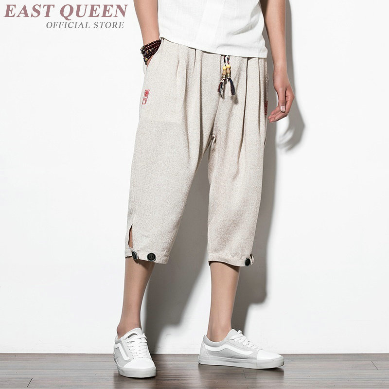 73d6d77d52 Aliexpress.com : Buy Cropped trousers for male trousers traditional chinese  clothing for men casual pants men clothing 2018 AA3870 Y A from Reliable  Bottoms ...