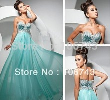 free shipping long dresses for party 2015 maxi brides maid blue crystal Prom Flower Beaded Lace Graduation Dresses