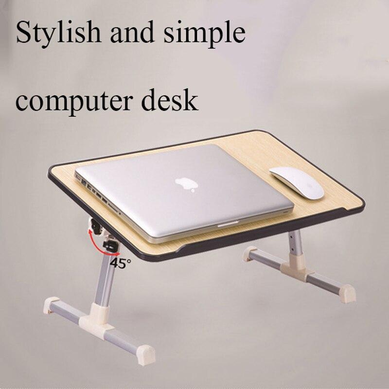 Высота подъема 22 см-31 см тент рабочего 0--60 градусов ноутбук кровать общежитии учится читать простые Ленивый Складной компьютерный стол