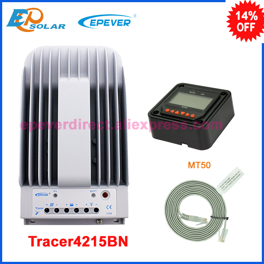 Solar battery tracer mppt EP controller 40A 40amp Tracer4215BN with black MT50 remote meter 12v/24 Epsolar tracer2210a black mt50 remote meter mppt solar battery controller with usb and temperature sensor 20a