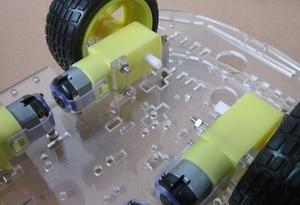 Image 3 - משלוח חינם 4WD חכם רובוט רכב שלדת ערכות עם מהירות מקודד חדש