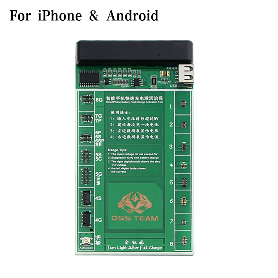 W209A 2 in 1 SmartPhone Battery Fast Charging and Activation Board For iPhone 7 7Plus 6 6s 5 5s 4 4s Mobile Phone Repair Tool стоимость