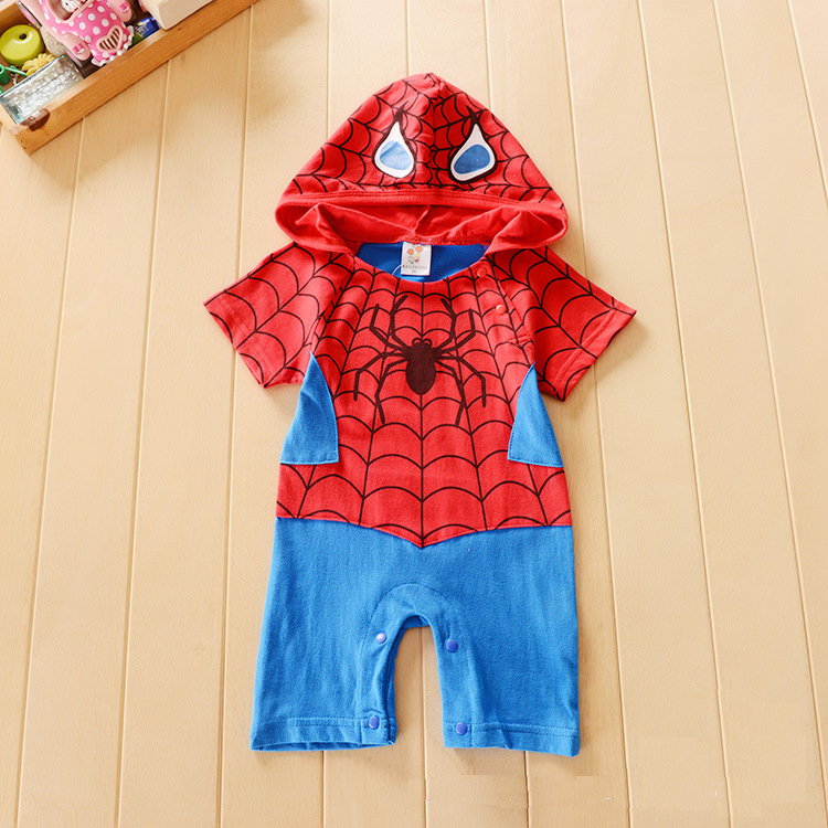 baby boy romper jumpsuit spiderman costume halloween costume winter clothes baby long sleeve baby clothes