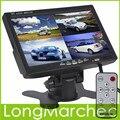7 Polegada TFT LCD Monitor de Encosto de Cabeça Do Carro Suporte a Exibição de 4 Divisão 4Ch de Entrada de Vídeo Para Câmera de Visão Traseira DVD GPS Com Controle Remoto controle