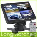 7 Pulgadas TFT LCD Monitor Del Coche Pantalla Reposacabezas Apoyo 4 Dividida $ number canales de Entrada de Vídeo Para Cámara de Visión Trasera de DVD GPS Con Mando A Distancia Control