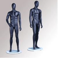 Top Level Man Whole Body Black Mannequin Window Display Men's Dummy On Show