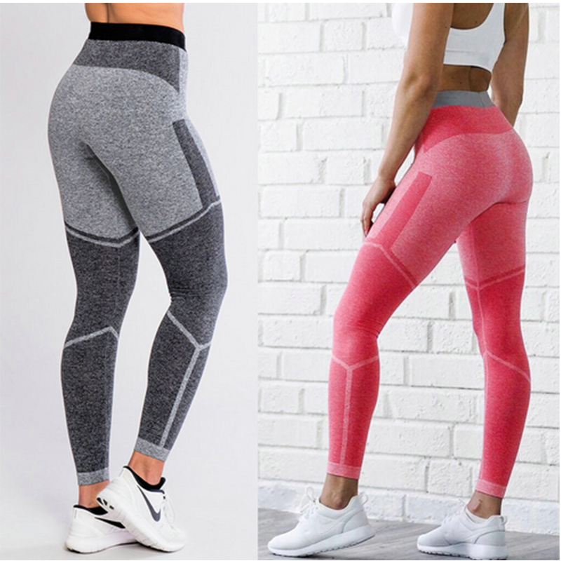 Women's Sporting Leggings Sexy Patchwork Dot Print Pants Skinny High Elastic Fitness Workout Joggers Trousers Lady Sweatpants