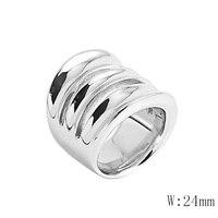 BG 37 Silver Gold Rose Gold Luxury Wedding Ring Wholesale Stainless Steel Fashion Men Women Gift