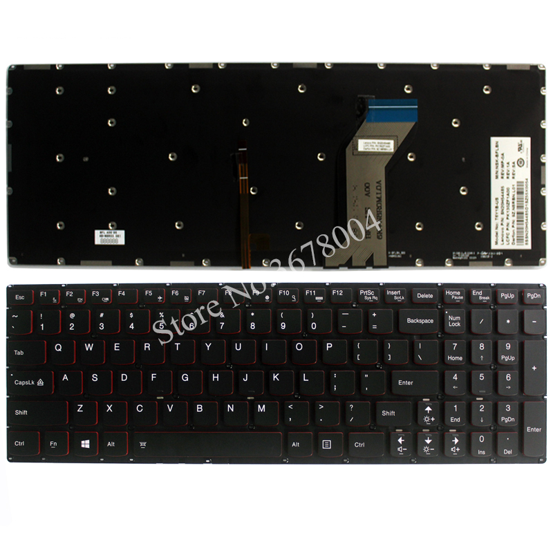 все цены на NEW for Lenovo Y700 series Backlit laptop Keyboard US Without frame онлайн