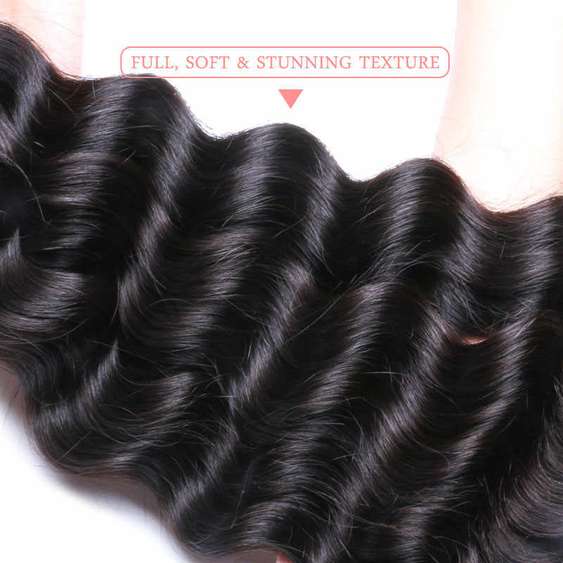 Ali queen продукта Бразилии Свободные глубокая натуральная волос Комплект 12-26 дюймов натуральный Цвет необработанные натуральные волосы может Цветной 613 #