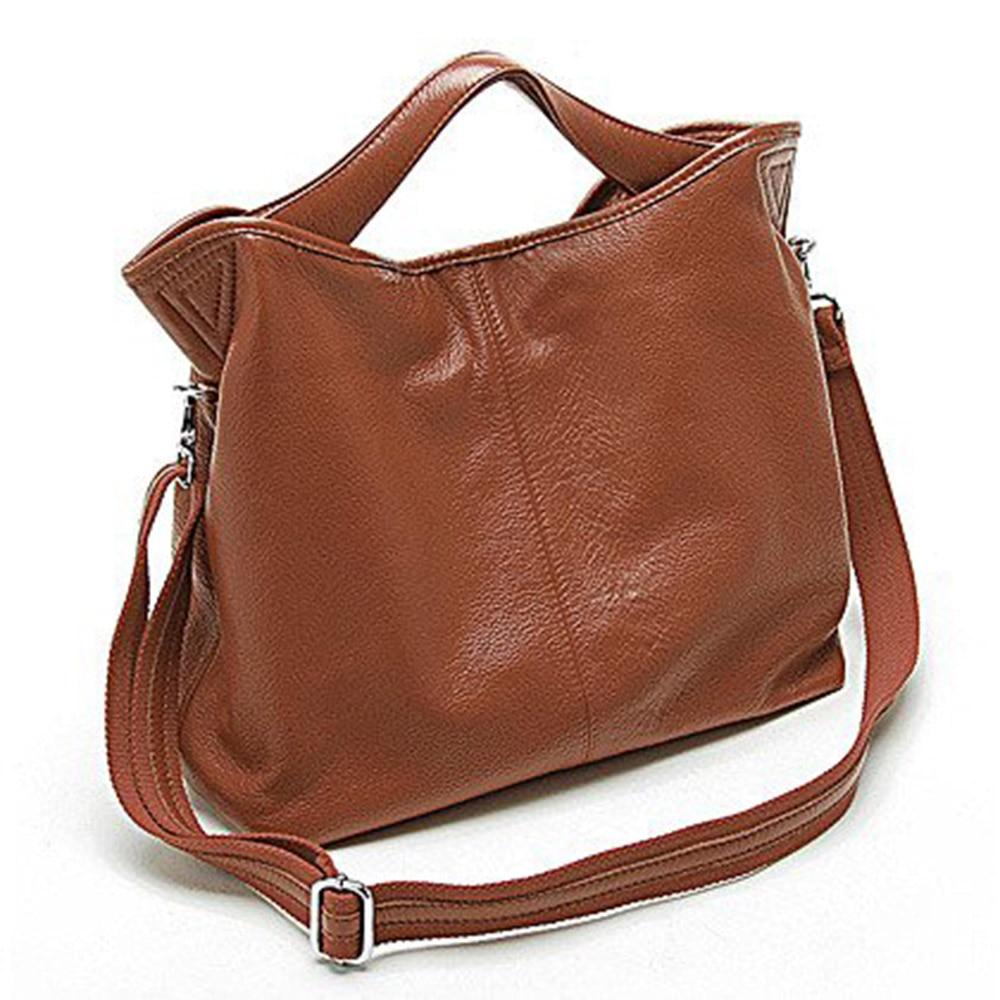 2631ecf37 Zency Wholesale Fashion Women Handbag 100% Genuine Leather Ladies Casual Tote  Bag Charm Shoulder Messenger Classic Satchel Purse