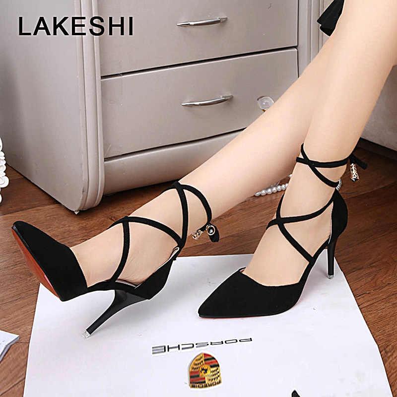 8f270cb83 Гладиатор Для женщин на танкетке, с перекрестными ремешками пикантные  босоножки на высоком каблуке Женская обувь
