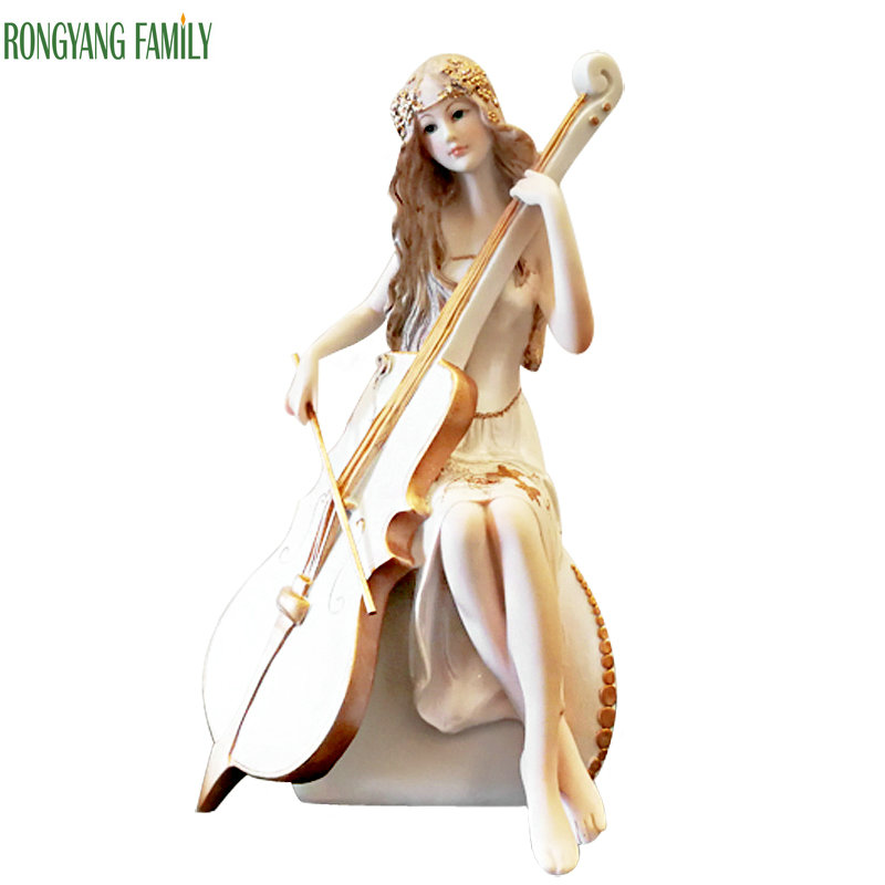 Nordic Abstract Beauty Girl Statue Ceramic Damsel Sculpture Art And Craft Ornament for Home Decor and Festival Gift Figurines