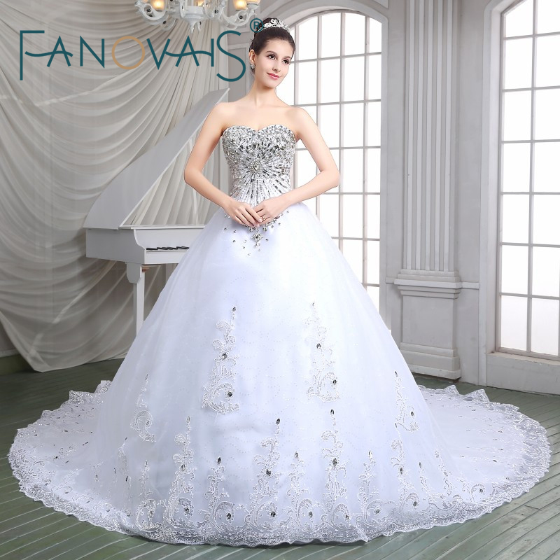 Buy ball gown luxury princess wedding for Sparkly beach wedding dresses