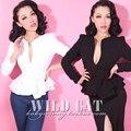 Envío gratis 2015 edición limitada Vintage clásico elegante delgado del todo fósforo v-cuello de la chaqueta corta prendas de vestir exteriores ropa mujer