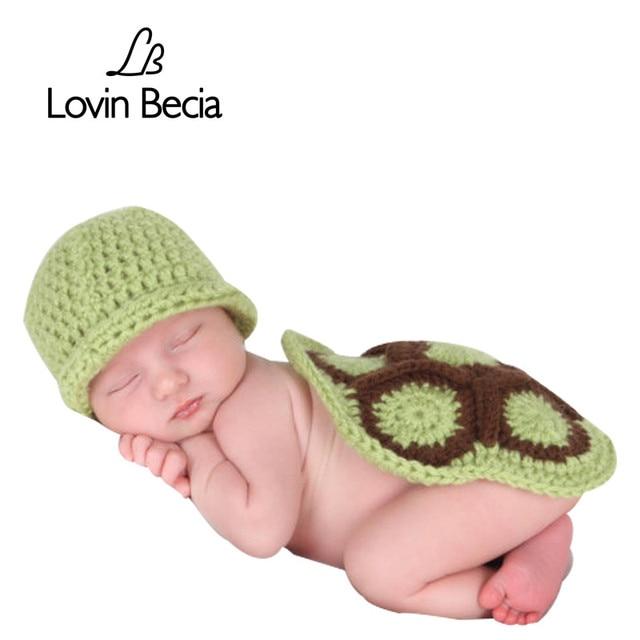 LOVIN BECIA photography neonato puntelli cappello del bambino tartaruga  modellazione carino cappelli per i neonati fatto 890ef7ff7f5c