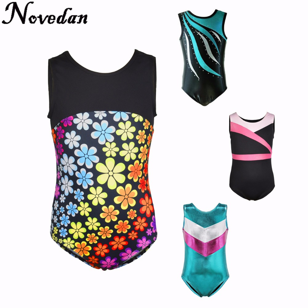 Rhythmic Gymnastics Leotards For Girls Kids Ballet Dance Leotards Dress Children Training Biketard Dancewear Practice Costume