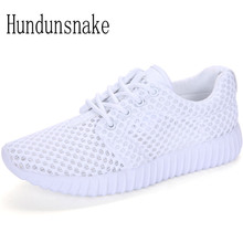 Hundunsnake Breathable White Sneakers Women 2017 Basket Femme Mesh Running Shoes Ladies Sport Shoes Female Krasovki Gumshoe T455