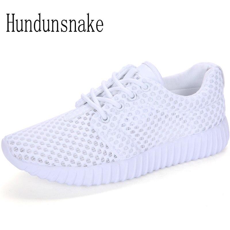 Hundunsnake Breathable White Sneakers Women 2018 Basket Femme Mesh Running Shoes Ladies Sport Shoes Female Krasovki Gumshoe T455
