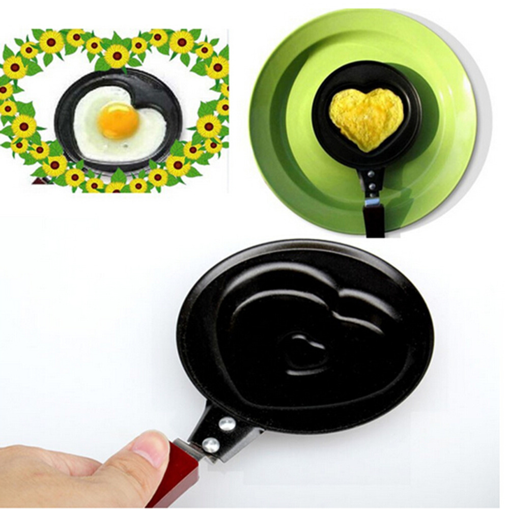 Latest Kitchen Tools Part - 34: Latest DIY Mini Convenient Egg Pan Cartoon Handle Iron Pan Love Creative Kitchen  Tools
