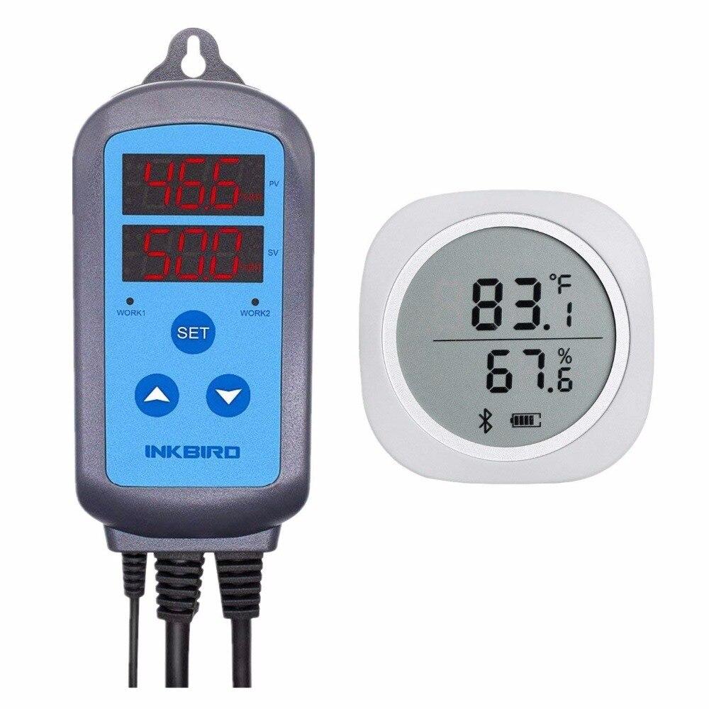 Inkbird Combo Bluetooth Wireless Magnetic Monitor Smart Sensor Data Logger +Temperature Humidity Controller Thermostat Hygrostat стоимость
