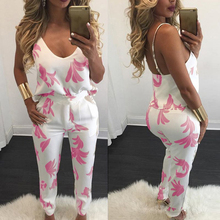 Women two piece outfits Sexy summer 2019 conjuntos de mujer Solid color Sling V-neck print vogue two-piece suit New fashion