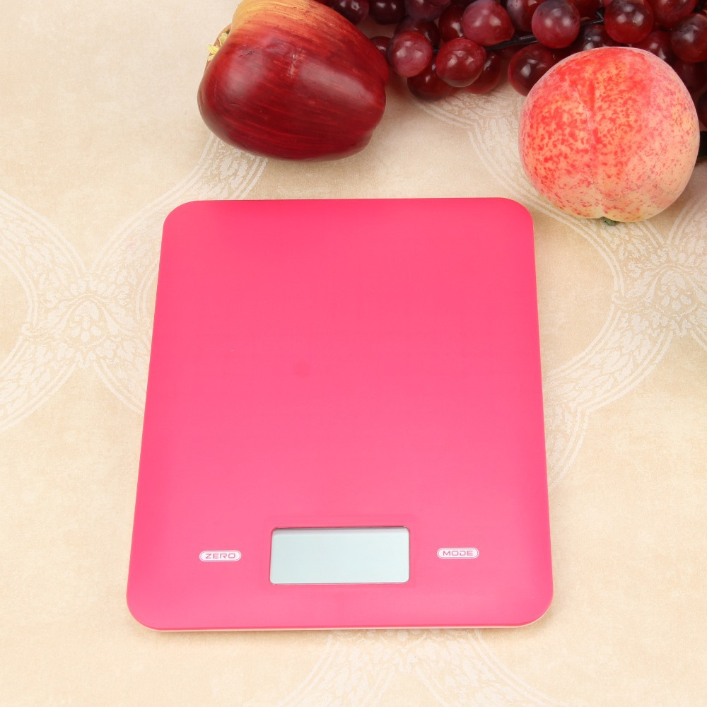 HMu0026FC Pink Portable Digital Electronic Kitchen Scale Food Parcel Weighing  Balance Free Shipping ...