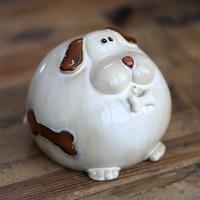 Funny Porcelain Terrier Dog Model Money Box Decorative Ceramic Piggy Bank Porcelain Doggy Statue Gift Craft Ornament Accessories