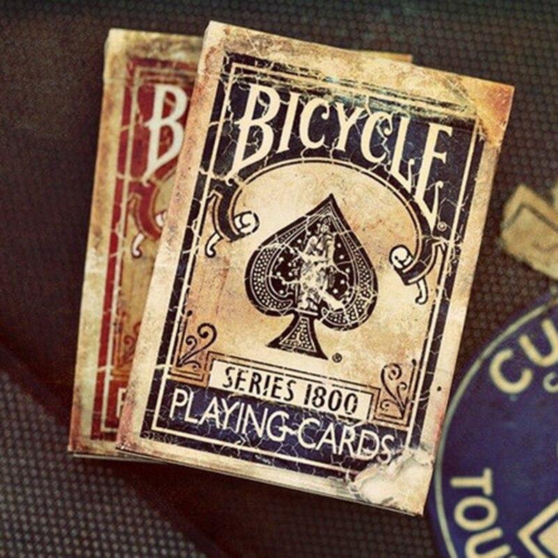 Vélo Vintage Série 1800 Ellusionis Cartes À Jouer Original Poker Cartes pour Magicien Collection Jeu De Cartes