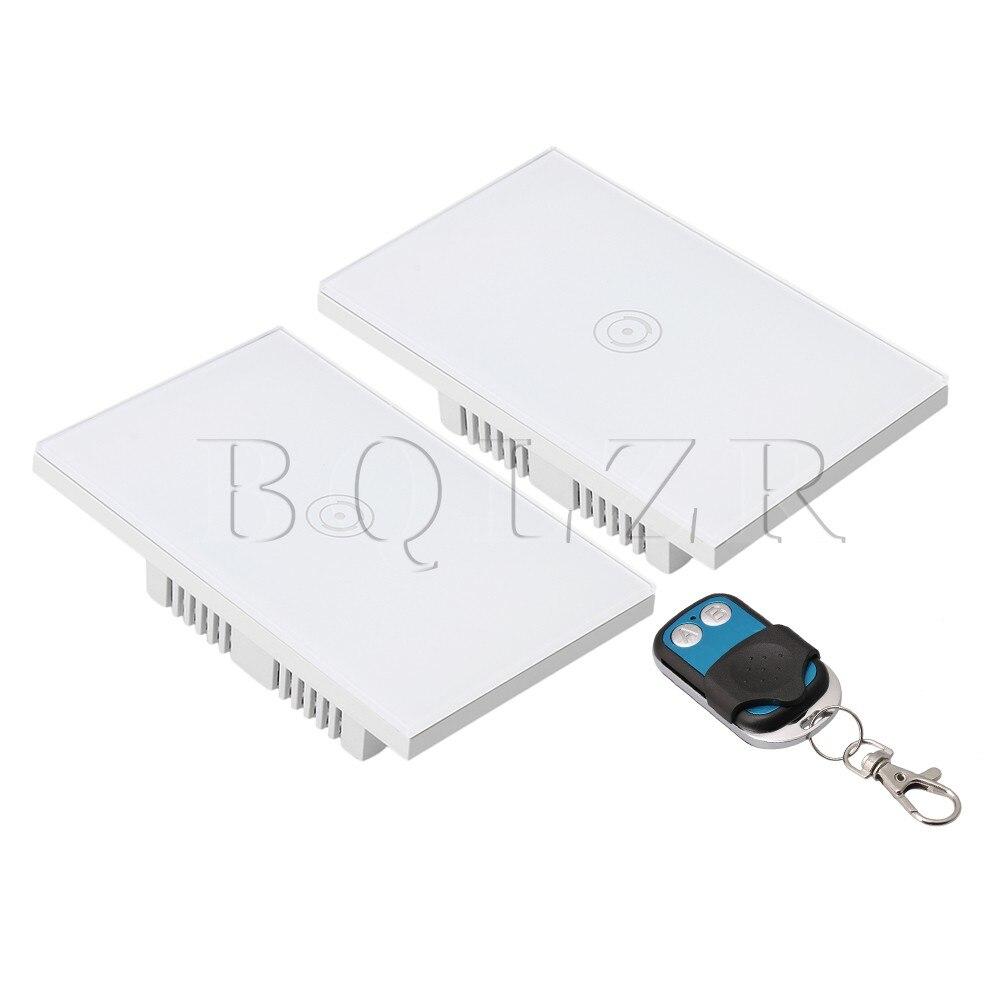 BQLZR Norme AMÉRICAINE AC90-250V Commutateur Tactile Intelligent Contrôle avec Métal Émetteur À Distance de Téléphone Portable De Soutien Télécommande