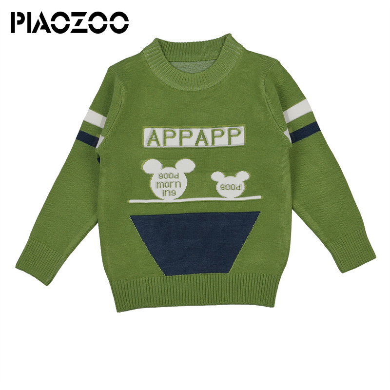 08886cb98 Toddler boy winter sweater cartoon design baby knitted casual baby ...