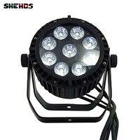 Водонепроницаемый LED PAR 9x18 Вт LED DJ Disco свет Театр света мытья Открытый RGBWA + УФ 6in1 Stage освещение LED Водонепроницаемый черный корпус