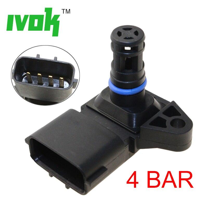 5wk96841 - 5WK96841 2045431 4Bar (4 Bar) Manifold Intake Air Pressure sensor MAP Sensor For Renault Peugeot 405 Kia Pride Hyundai Citroen