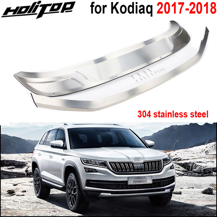 New arrival for Skoda Kodiaq 304 stainless steel skid plate bumper protector guard 2017 2018 front