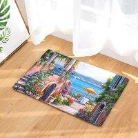 Homing Beach Castle Dustproof Light Thin Decoration Beautiful Carpets Waterproof Stair Mats Kitchen Floor Mats Home