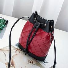 womens handbag small bag mini purse Drawstring bucket bags plaid brand designer string cute ladys out street shoulder