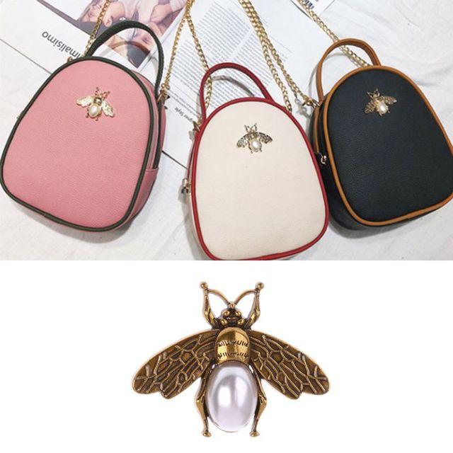 Fashion New 1 Pc Bee Metal Bag Decoration for DIY Shoulder Bags Casual Tote Messenger Handbag Accessories
