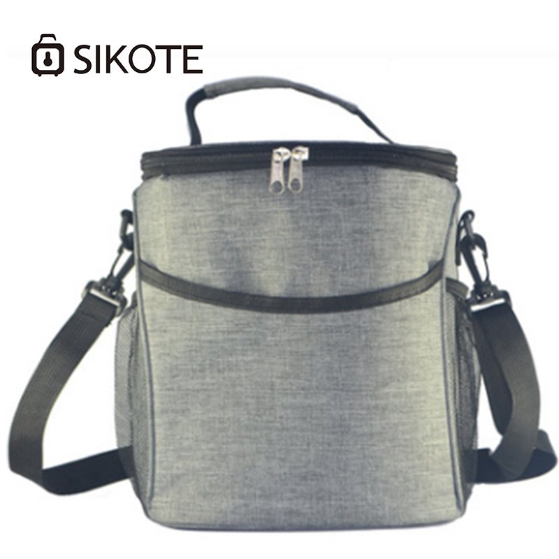 SIKOTE Oxford Cooler Bags for Wine Women Lunch Bag Black Bags Cooler Lunch Box Bags Waterproof Thermal Food Fruit Package