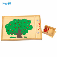 Baby Educational Toy Montessori Toys Apple Tree Counting Learning Great Gift for Children Wooden