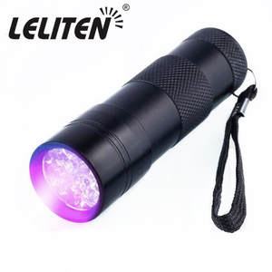 9LED UV Light 30-50nm LED UV Led Flashlight Violet light torches