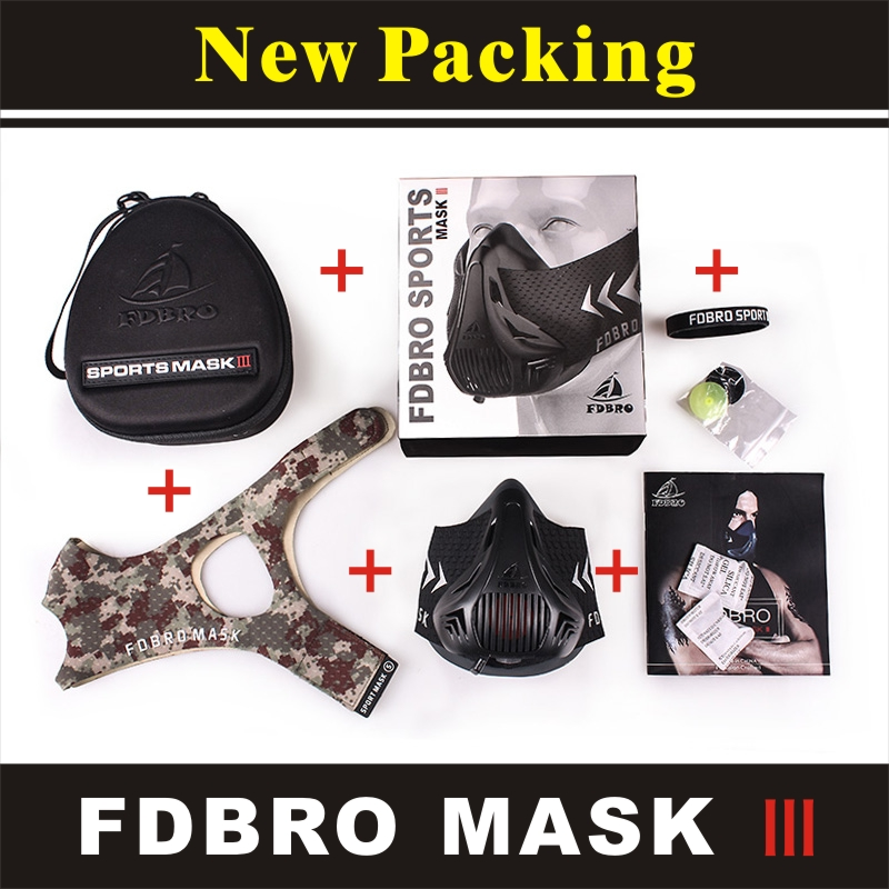 FDBRO Cycling Face Protector Training Sport Mask Gym Equipment Exercise Bicycle Riding Face Masks Run Fitness Sport Mask 2.0