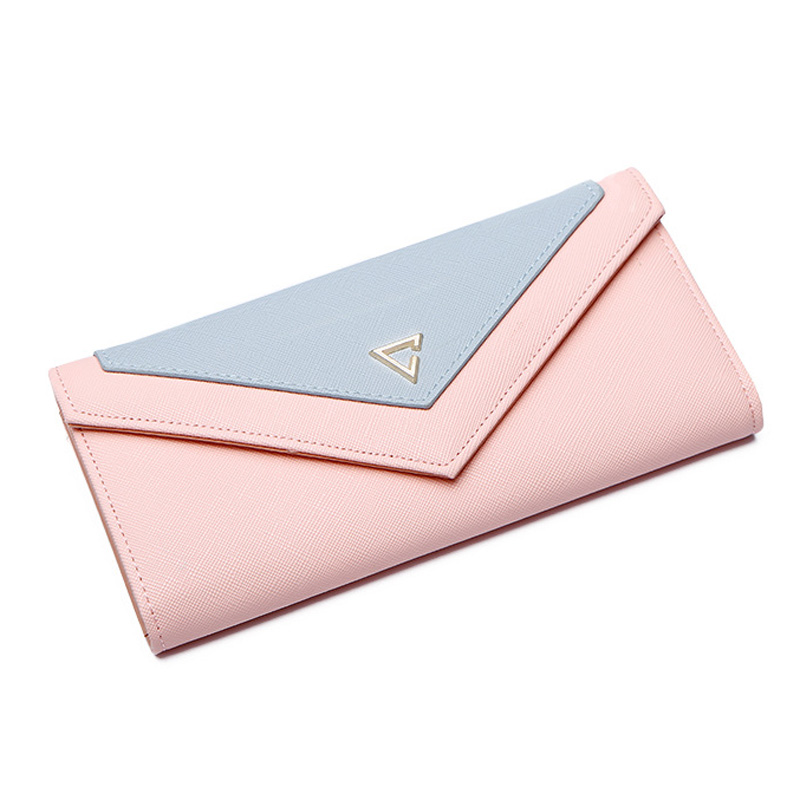 New Envelope Wallet Women Geometric Lady Clutch Women's Wallet PU Leather Hasp Fashion Design Female Phone Money Bag Coin Purse