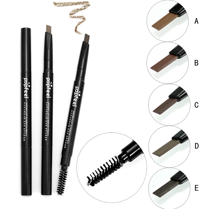 A 2017 women Cosmetics Eyebrow Makeup Double Automatic Rotation Eyebrow Eyeliner Pencil Tool 1026 A