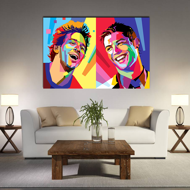Football Star Cristiano Ronaldo Poster Home Decoration Wall Art Pictures Messi Canvas Painting For Kid's Bedroom Living Room