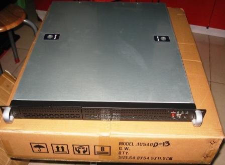 1U540 540 MM long 1U boîtier de serveur IDC boîtier de tube de traînée soufflant directement armoire industrielle