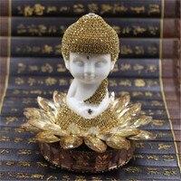 Luxury Ceramic Crystal Lotus Buddha Car Perfume Holder Tathagata Home Decorative Freshener Bottle Seat type Fashion Ornaments