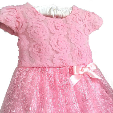 Retail - 2017 Summer bow birthday party Baby clothes, ball gown children kids tutu girls dress baby dress baby girl clothes pink Lahore